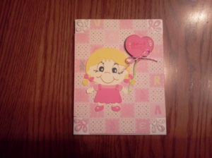 Little girl get well card