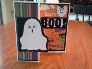 Halloween trifold card