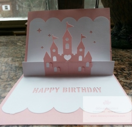 Princess pop up card inside