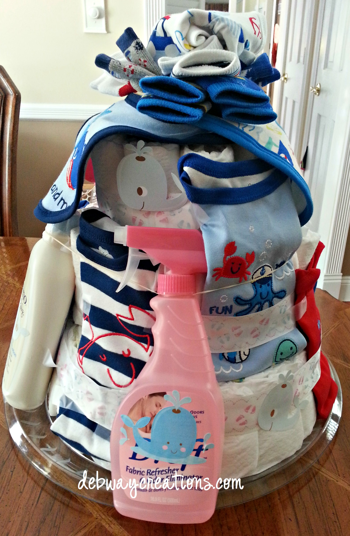 Diaper Cake Baby Boy Debwaycreations